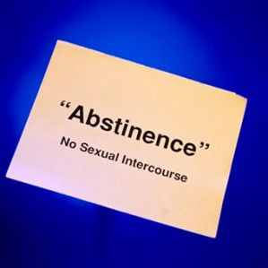 What does sexually abstinent mean